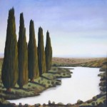 The shadows begin, oil on linen, 91x91cm, Luke Wagner 2004
