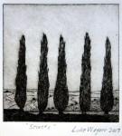 Secrets, etching, Luke Wagner