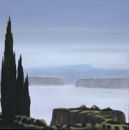 Across the Light, oil on linen, 61x61cm, Luke Wagner 2004