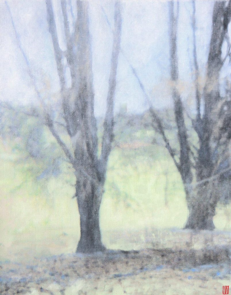 Farm Garden (detail), Wybalenna, Flinders Island, 2020, 76x61cm