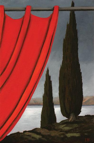 Echoes, silence, oil on Belgian linen, 46x31cm, Luke Wagner 2008