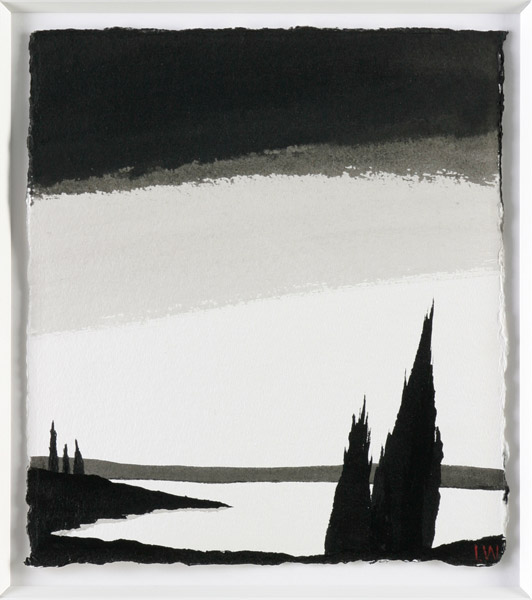 Night song 1, indian ink on arches, 29x25cm, Luke Wagner 2008