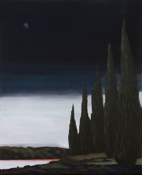 Falling dark, oil on linen, 60x45cm, Luke Wagner